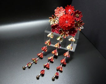 TSUMAMI KANZASHI hair accessory hair pin (Red)