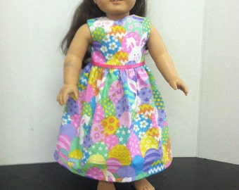 "18"" doll Clothes Easter Egg Dress"