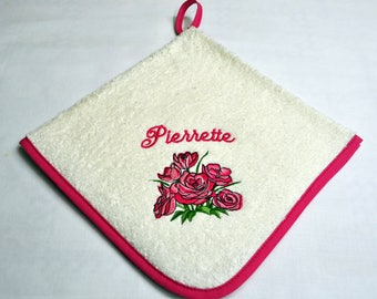 Personalized flower hand TOWEL