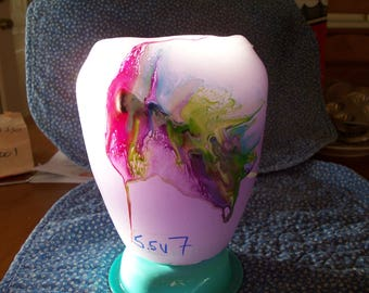 violet  blowout candle