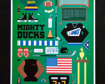 Mighty Ducks • Movie Parts Poster
