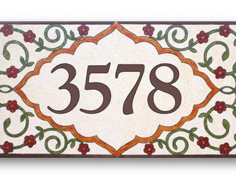Address Numbers, House Numbers, Custom house numbers sign, ceramic sign