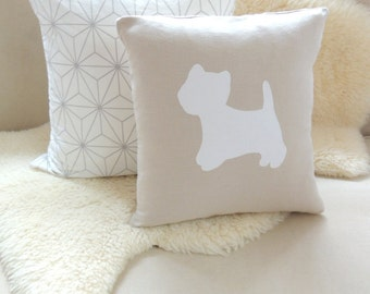 West Highland Terrier Pillow Cover - Westie Dog