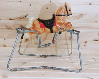 1965 Blazon Inc Spring Blond Rocking Horse