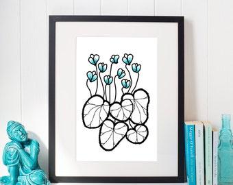 Blue Dotter - INSTANT DOWNLOAD - Illustration Art, Pink, Printable Art, Minimalist, Illustration Artwork, Digital Art, Dotter, Vintage
