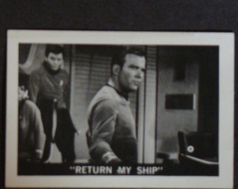 Vintage Original Leaf Brands 1967 Star Trek Card Return My Ship # 35