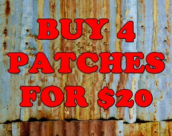 BUY Any 4 Patches For Twenty Dollars Iron On Patch Offer Fabric Wholesale Bulk Embroidered Music Kids Metal Street Wear Clothing Jacket Logo