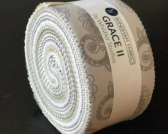 "Windham Fabrics - Grace II Jelly Roll/2.5"" Strips by Whistler Studios - 40, 2.5"" x 42"" Precut Fabric Strips"