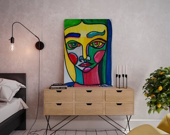 Wall art collage canvas print image - Polina