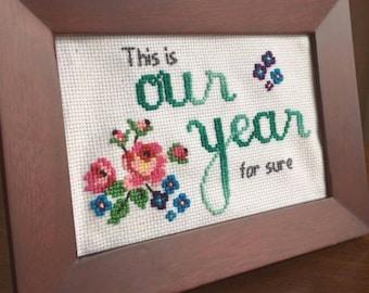100 Resolutions Cross Stitch