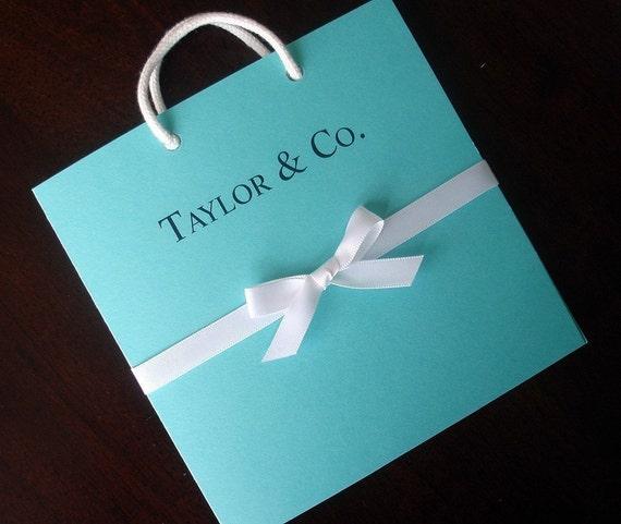 Tiffany Wedding Invitations: Breakfast At Tiffany's Bridal Shower Invitation Blue