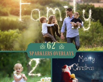 62 Sparkler Overlays, Letters and numbers Sparklers, Alphabet, Numbers, Punctuation, Digital backdrop, Sparklers Effect, Wedding Overlays