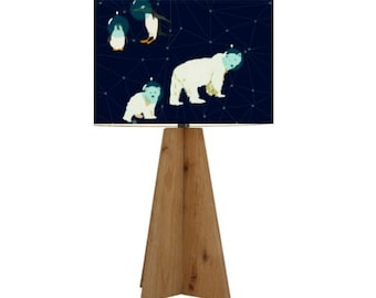 Polar Bears and Penguins Space Constellation on a Navy Background