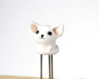 Adorable Cat Planner Clip Animal Planner Accessories white kitten paper clip Cute Cat Bookmark  white kitten love