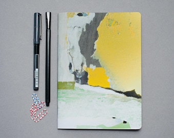 2018 Recycled Planner, Eco friendly weekly A5 planner, undated desk planner, minimalist abstract planner, soft cover, artistic agenda