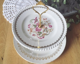 """Rosy"" cake stand 2 floors"