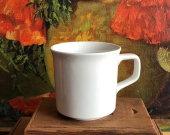 White Coffee Cup Mug Ceramic Made in England Vintage Teacup