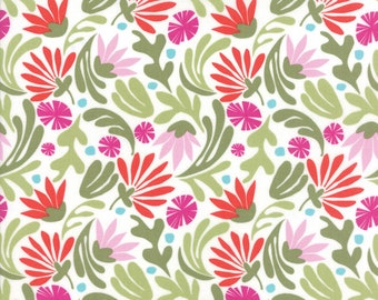 Bungalow Jazz Berry #27291-11 by Kate Spain for Moda Fabrics, One yard, Bungalow Fabric, IN STOCK