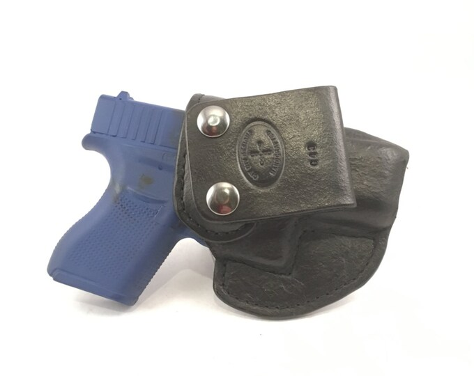 Glock 43 IWB - Handcrafted Leather Pistol Holster