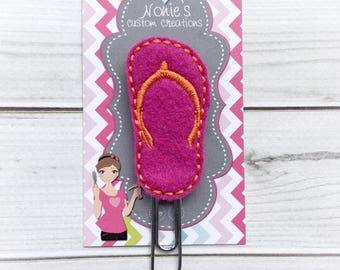 Flip Flop Paper Clip - Flip Flop Paperclip - Planner Paperclip - Planner Accessories - Planner Feltie - Flip Flop Feltie - Flip Flop Clip