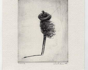 "ORIGINAL ETCHING ""Wind II"""