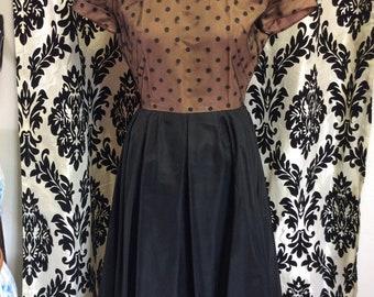 40's/50's Polka Dot overlay Dress