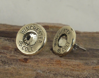 Winchester Colt 45 - Jonquil - Ultra Thin Bullet Earrings