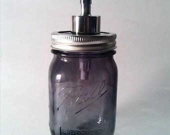 Distributeur de savon violet Mason Jar savon distributeur boule violet pot