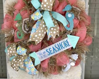 SOLD! BEACH Ocean SEASHORE Wreath