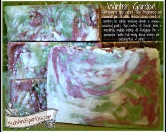 Winter Garden - Rustic Suds Natural - Organic Goat Milk Triple Butter Soap Bar - 5-6oz. Each