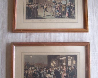 A Pair of framed, glazed and mounted hand coloured aquatints etched by D Sutherland from original drawings by S.Alken.   London 1823.