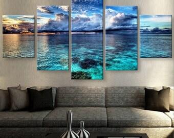 Beach Canvas Art, Beach Wall Art, Beach Large Canvas Art, Beach Wall Painting, Beach Wall Decor, Beach Canvas Print