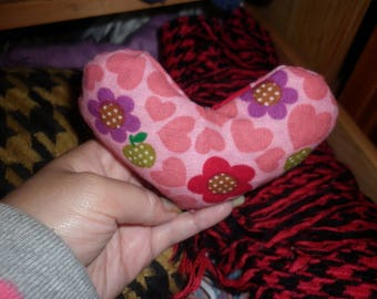 handmade heart shape scented small bag