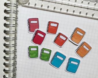 Spiral bound notebooks stickers