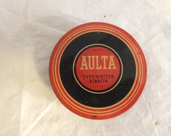 Typewriter Ribbon Tin Aulta & Wiborg Carbon and Ribbon Co, Inc.
