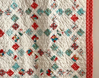 Baby Quilt - Crib Blanket - Southwestern - Baby Shower Gift - New Baby Gift - Lap Quilt