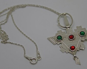 Berber Jewelry Silver Pendant Necklace