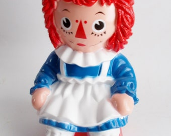 Vintage Raggedy Ann Bank 1972 Child's Room Plastic Bank