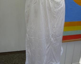 60s White Half Slip / L / XL