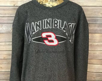 Vintage Dale Earnhardt Man In Black Sweatshirt (XL)