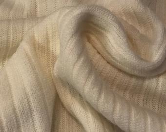 Off White Rib Knit Jersey