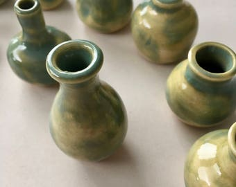 Miniature Pot(s) - Light Celadon Green
