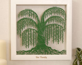 Personalised Willow Family Tree Wall Art