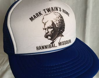 Vintage Mark Twain trucker hat-cap