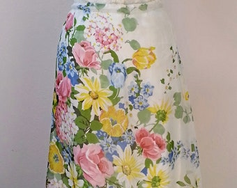Vintage Floral Bridal Bridesmaid Skirt with lace