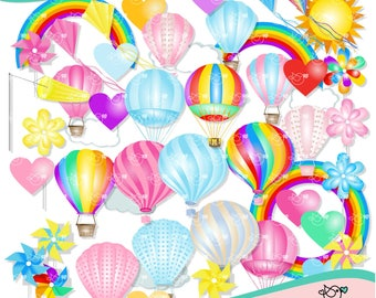 Balloons Clipart instant download PNG file - 300 dpi
