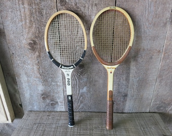 2 Vintage Wooden Tennis Racquets