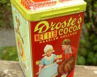 Vintage Droste's Cocoa Tin