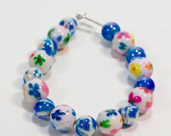 Spring Flowers! Bracelet and Earrings Set