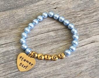 Flower girl bracelet, flower girl, jewelry, flower girl gift, flower girl bracelet, flower girl pearl bracelet, wedding flower girl gift